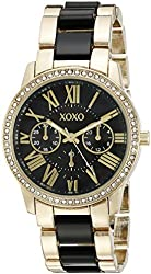 XOXO Women's XO5874 Gold-Tone and Black Bracelet Watch