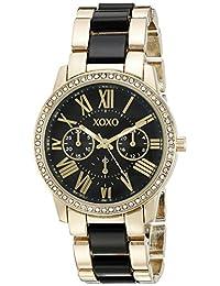 XOXO Women 's xo5874tono dorado y negro reloj de pulsera