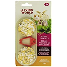 Living World 60691 2-Pack Small Animal Wheel Pet Treat Delights, 2.4-Ounce, Herbs/Hay