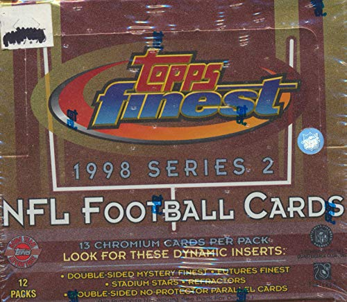 Topps Finest 1998 Football Cards Series 2 Box