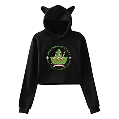 36ae42f0568e Amazon.com  Alpha Kappa Alpha Women s Cat Ear Short Crop Tops Sweatshirt  Hoodie Pullover  Clothing
