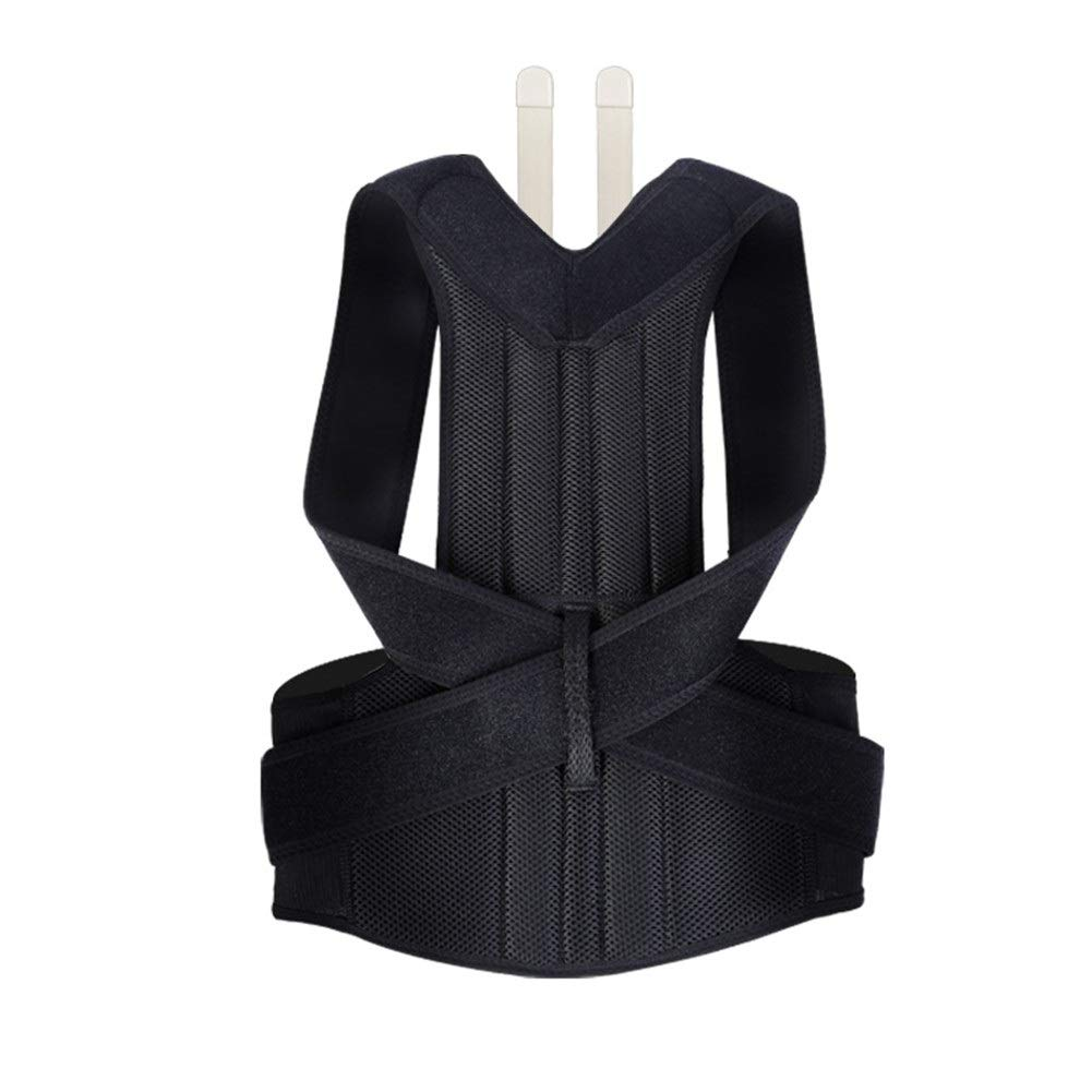 Corrector de postura Adult Posture Corrector, Shape The Perfect Body Ergonomic Design Support Brace for Back Shoulder Neck Pain Relief Clavicle (Size : S75-90cm)