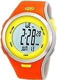 Soleus Men's SR010805 Ultra Sole Grey Digital Dial with Orange and Yellow Polyurethane Strap Watch