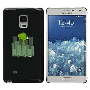TopCaseStore / la caja del caucho duro de la cubierta de protección de la piel - Japan City Minimalist Black Cartoon - Samsung Galaxy Mega 5.8 9150 9152