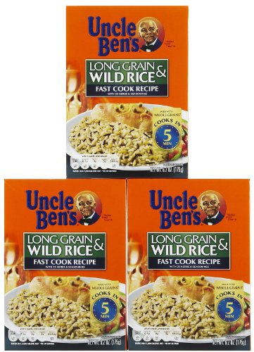 Uncle Ben's Fast Cook Long Grain Wild Rice, 6.25 oz, 3 pk
