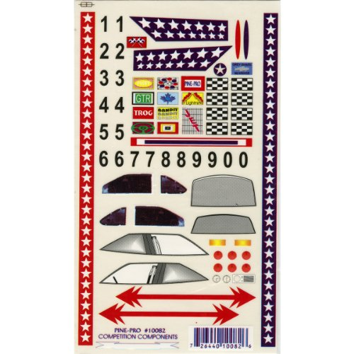 (Pine Car Derby Super Stock with Bonus Number Set Decal, 5 by 8-Inch)