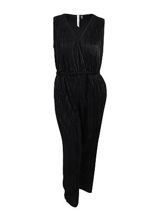cae803f0a88 Amazon.com  NY Collection Women s Plus Size Surplice Wide-Leg Jumpsuit   Clothing