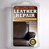 DARK BROWN Leather Sofa & Chair Repair Kit for tears holes scuffs with colour dye