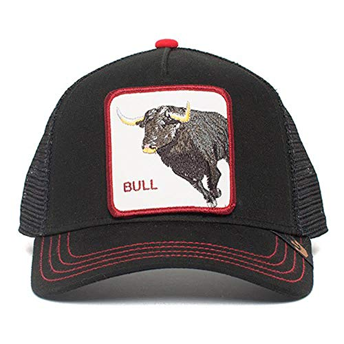 Goorin Brothers Unisex Animal Farm Snap Back Trucker Hat Black Bull Honky One Size