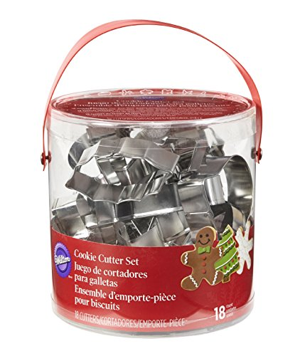 Wilton Holiday Shapes Metal Cookie Cutter Set, 18-Piece