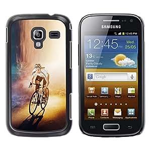 Caucho caso de Shell duro de la cubierta de accesorios de protección BY RAYDREAMMM - Samsung Galaxy Ace 2 - CICLISTA bicicleta del corredor