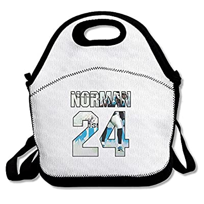 100% Polyester #24 Josh Norman Multifunction Reusable Snack Bag Handbag Lunch Tote