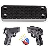 Gun Magnets for Cars, Magnetic Handgun Mount with Adhesive Backing, Quick Draw Rubber Coated 35 lb, Concealed Carry Gun Accessories for Vehicle, Truck, Wall, Desk, Bedside