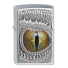 Zippo lighter, Special Edition Dragon Eye, 3-D Emblem, Chrome, NEW, MIB