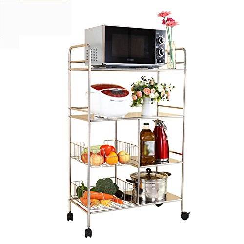 Stainless steel kitchen rack / multi-functional oven rack / 4-layer carts shelf by Shelf-xin