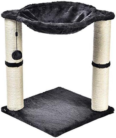 Torre en forma de árbol para gatos con cama tipo hamaca y poste rascador 7