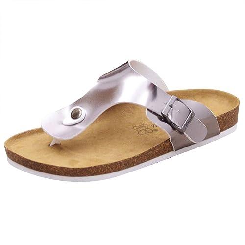 ZhuiKun Sandali Infradito Sughero - Donna Pantofole Eleganti Ciabatte Comodi  Argento EU 39  Etichetta 40 87029cd622b
