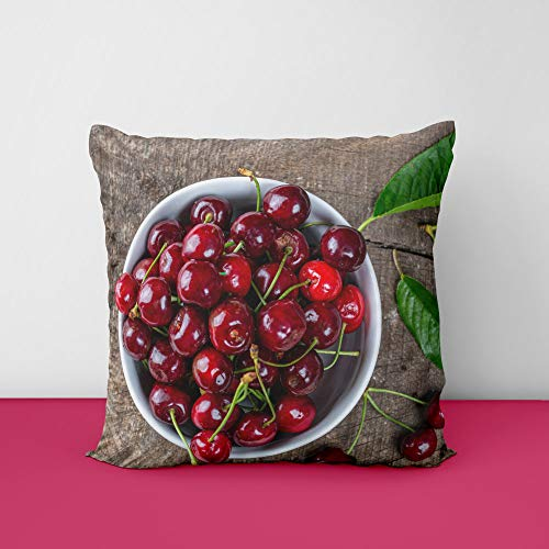 51femIsWHrL Red Cherry Square Design Printed Cushion Cover