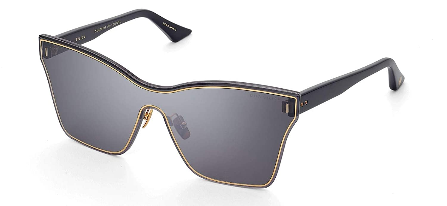 cc9f3d41e0d Dita Silica Gold and Black frame sunglasses DTS-508 with Dark Grey Lens   Amazon.co.uk  Clothing