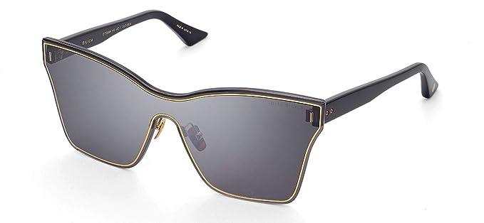 4375f5e7faa8 Dita Silica Gold and Black frame sunglasses DTS-508 with Dark Grey Lens   Amazon.co.uk  Clothing