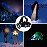 Canwelum Rechargeable LED Head Torch, Super-bright Cree LED Running Head Torch, Zoom Camping LED Headlamp (A Complete Set with Powerful 18650 Li-ion Batteries and Charger) - CE Certified Bild 7