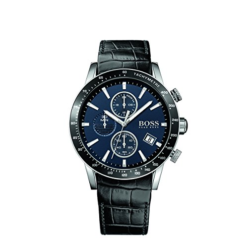 Hugo Boss Rafale 1513391 Dark Blue / Black Leather Analog Quartz Men's Watch