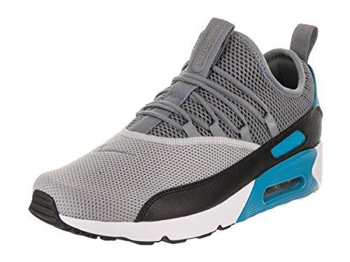 NIKE Mens Air Max 90 EZ Running Shoes Wolf Grey/Cool Grey/Black/Laser Blue AO1745-004 Size (Air Footwear)