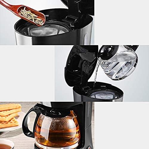 D-HD Macchina da caffè, un solo tocco operazione, antigoccia e la funzione di conservazione di calore, Imbuto removibile, facile da pulire, 600 ml, Nero,macchine da caffè