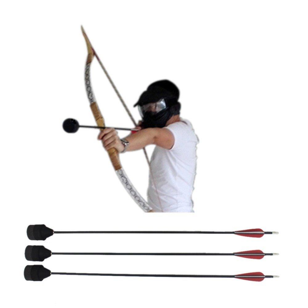 30 Lb Bow+Face Mask+Foam Tipped Arrows--Archery Battle Tag Game Larp Archery Equipment