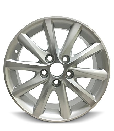 Road Ready Car Wheel For 2010-2011 Toyota Camry 16 Inch 5 Lug chrome Aluminum Rim Fits R16 Tire - Exact OEM Replacement - Full-Size Spare
