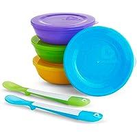 Munchkin 01210601 Love-a-Bowls 4 Skålar, 4 Lock och 2 Skedar, Flerfärgad