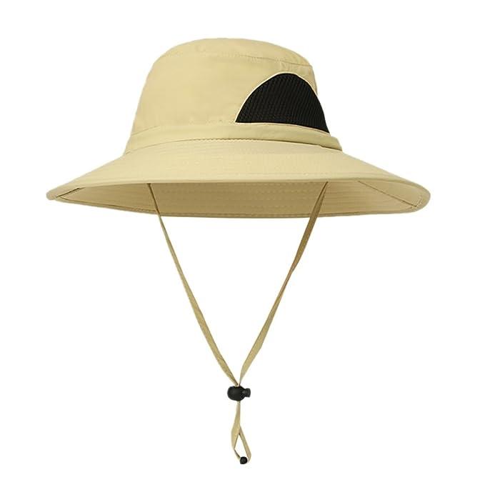Sweetds UPF 50+ Gorra de Pesca con protección Solar, Hombres Mujeres Pesca Protección UV