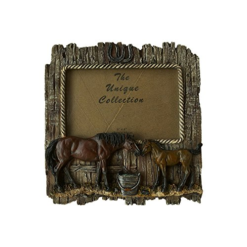 Comfy Hour Wild Western Rustic Wood Imitated Double Horse 6