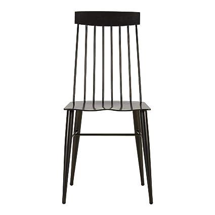 Ethan Allen Somers Modern Windsor Aluminum Dining Chair, Bronze