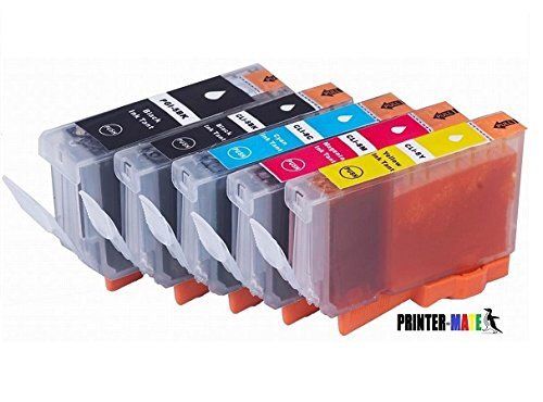 Price comparison product image Printer-Mate TM Replacement Edible Ink for PGI-270XL PGI 270 CLI-271XL CLI 271 (1 Large BK,  1 Photo BK,  1 C,  1 M,  1 Y) for PIXMA TS5020 TS6020 MG6820 MG6821 MG5720 MG5721 CAKE PRINTING