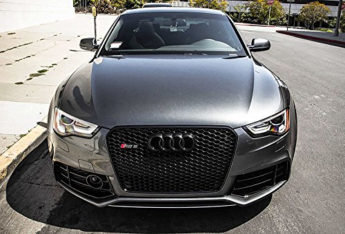 Euro Rs5 Front Sport Hex Mesh Honeycomb Grill S Line Black For Audi