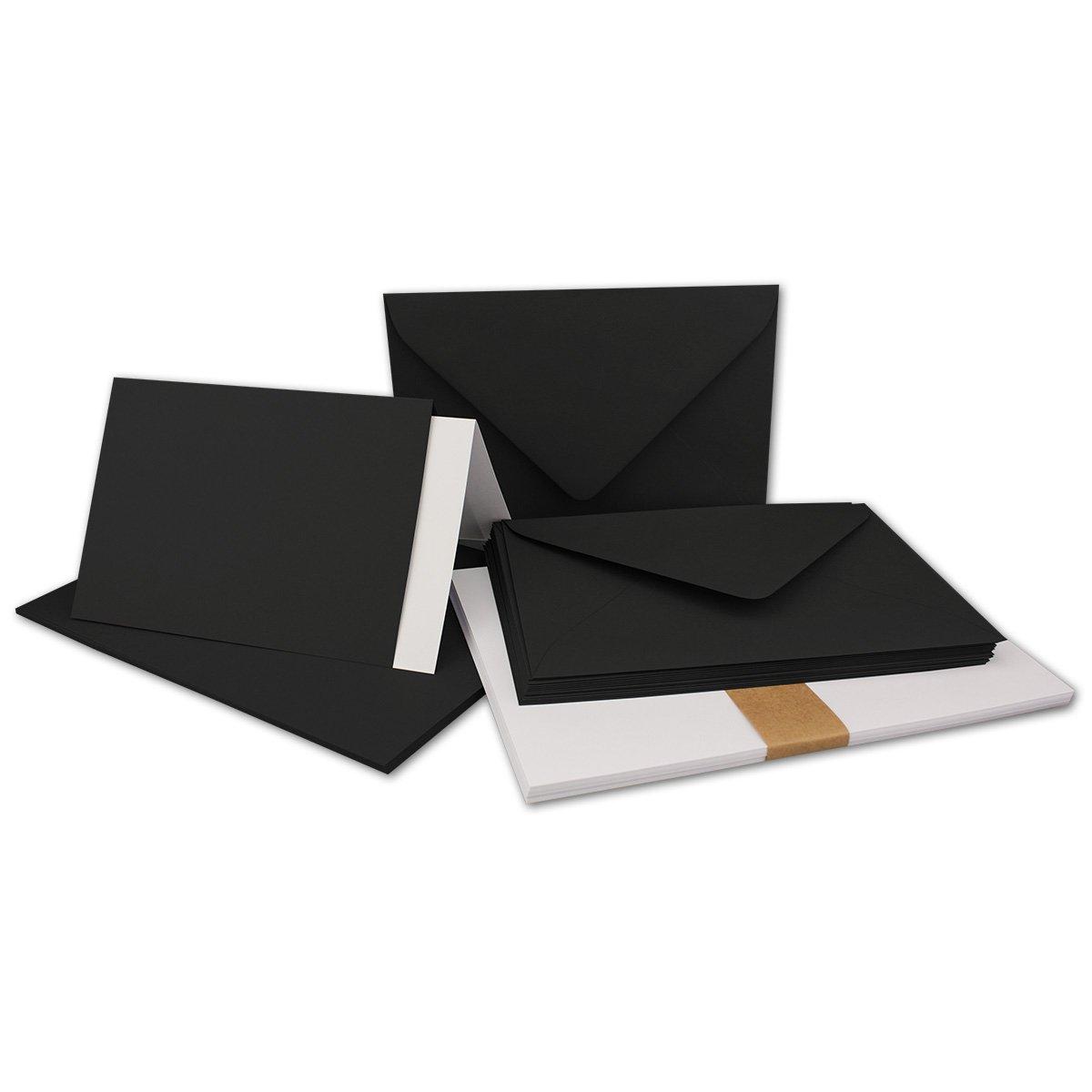 150 Sets - Faltkarten Hellgrau - DIN A5  Umschläge  Einlegeblätter DIN C5 - PREMIUM QUALITÄT - sehr formstabil - Qualitätsmarke  NEUSER FarbenFroh B07C2XH4HY | Realistisch
