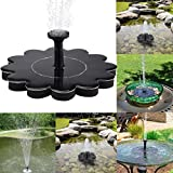 TiTCool Micro Solar Fountain Black Simple Portable Flower Shape For Pool Garden Aquarium