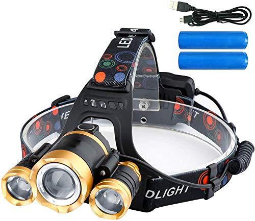 ZHENWEI LEDヘッドライト usb充電式 12000ルーメン センサー 電気出力 電量ディスプレイ可能 4モード