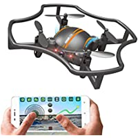 Mini Drone with 720p HD Camera F-19w RC Quadcopter Built-in 2.4GHz 6-Axis Gyro with Altitude Hold Gravity Sensor Function for Beginner by Blu7ive