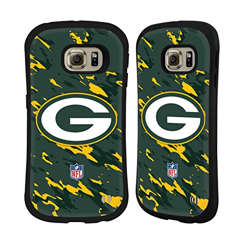Official NFL Camou Green Bay Packers Logo Hybrid Case for Samsung Galaxy S6 edge
