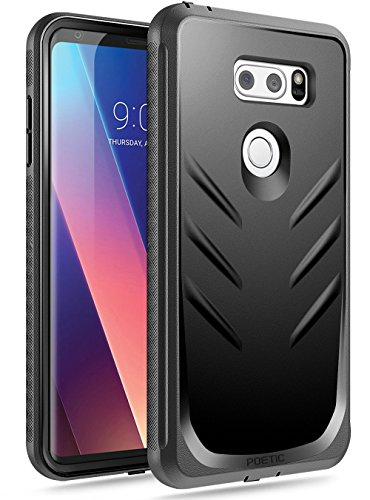 Poetic LG V30/LG V30 Plus/LG V30S ThinQ/LG V35/LG V35 ThinQ Case, Revolution[360 Degree Protection] Full-Body Rugged Heavy Duty Case with[Built-in-Screen Protector] for LG V30/LG V35 ThinQ-Black