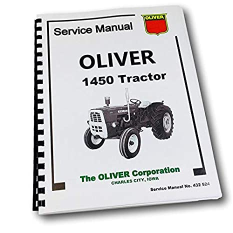Amazon.com: Oliver 1450 Tractor Service Repair Manual Technical Shop on