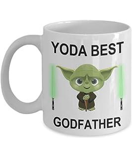 eab491697 Funny Birthday Gifts For Yoda Best Godfather Dad Fathers Day Christmas  Present Star Wars Jedi Coffee