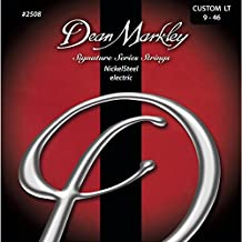 Dean Markley Signature Series NickelSteel Guitar Strings, 9-46, 2508, Custom Light