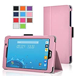 Exact Asus Memo Pad 7 Me176cx Case [Pro Series] - Professional Folio Case For Asus Memo Pad 7 (Me176cx) Light Pink
