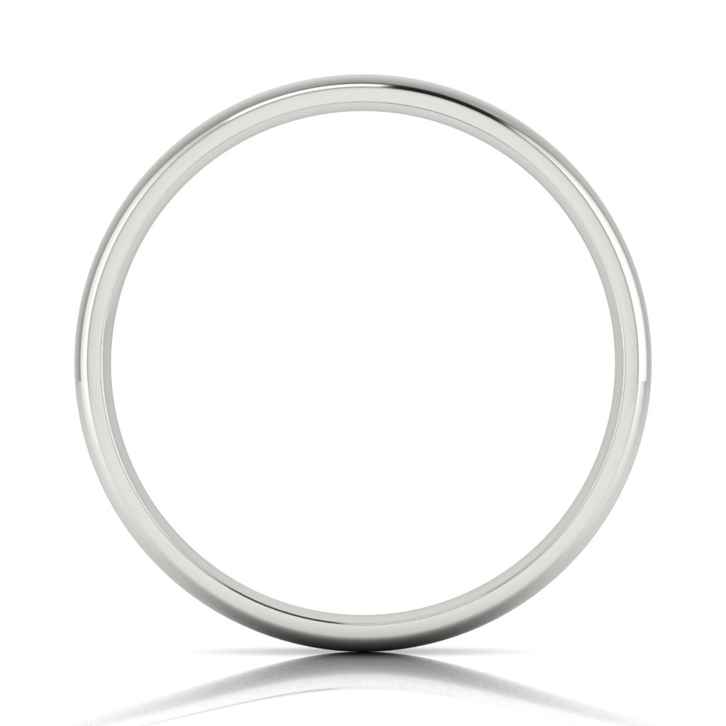 Buy Jewels 10k Gold Comfort Fit 4mm Wedding Bands for Men and Women (white-gold, 6) by Buy Jewels (Image #2)