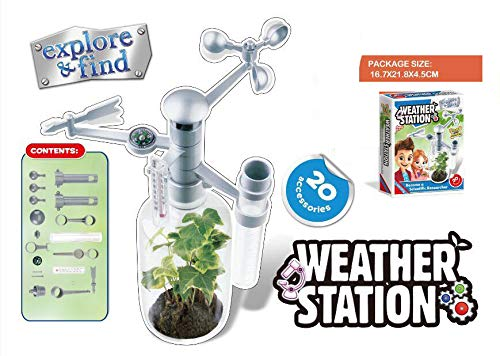 HaappyBox Weather Monitoring KIT, DIY Weather Station for School Projects and self Learning, Educational Gift, Learning Gift