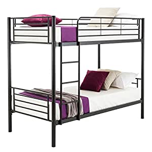 Amazon Com Beautifulwoman Twin Bunk Beds Frame Ladder For