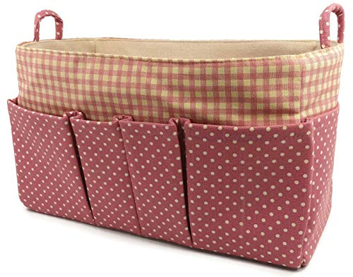 (Baby Canvas Large Purse Organizer Purse Organizer, Tote Bag Organizer for Speedy35, Neverfull MM: Large Size By K&M (Deep Pink Polka Dot))